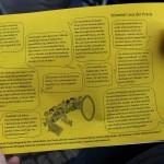 Auf dem Handzettel hat die Volksinitiative verschiedene Statements zusammengetragen und verteilt